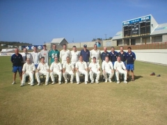 Team photo at Beajour Stadium. Late umpire Peter White (lurgan) also in photo.