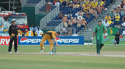 Shaun Tait's first ball was clocked at 93 mph